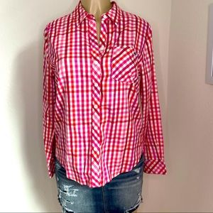 Vineyard Vines Plaid Flannel With Cashmere Size S